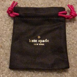 kate spade Jewelry - 💯 Kate Spade Hoop Earrings: worn once!